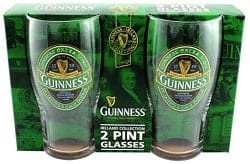 beer gifts - Guinness Green Collection Pint Glasses