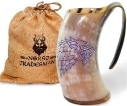 beer gifts - Norse Tradesman Genuine Viking Drinking Horn Mug