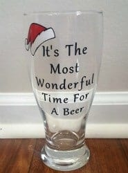 craft beer gifts - CHRISTMAS BEER GLASS