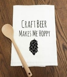 craft beer gifts - FUNNY TEA TOWEL