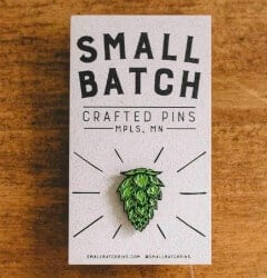 craft beer gifts - HOP ENAMEL LAPEL PIN