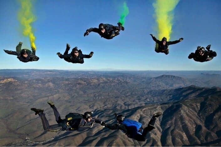 list of hobbies - Skydiving