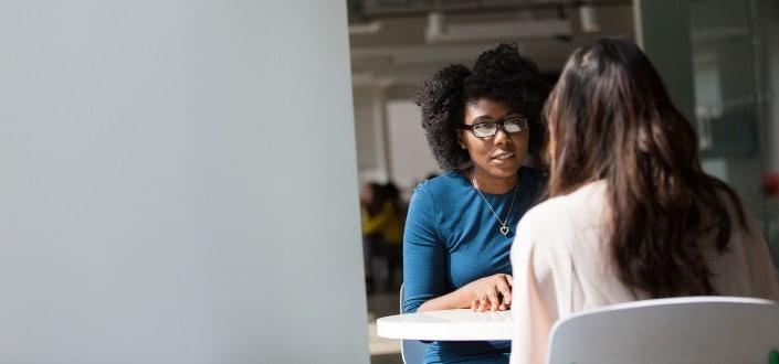 diverse women talking