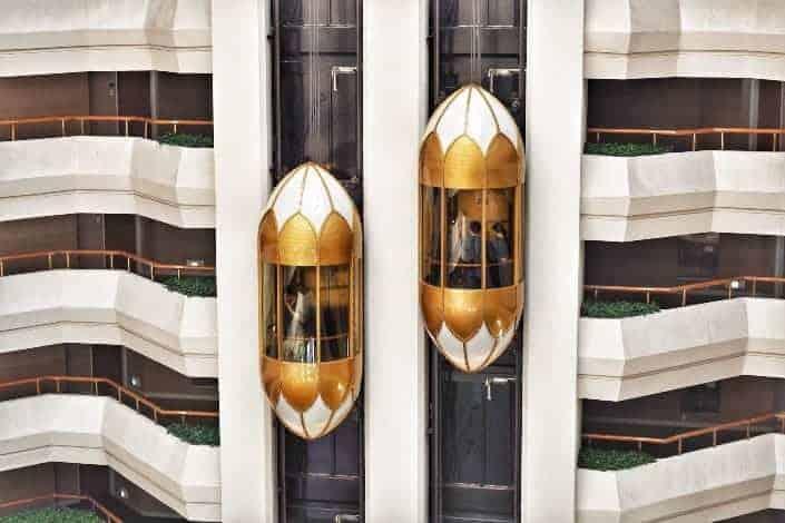 Exterior of elevator inside a building