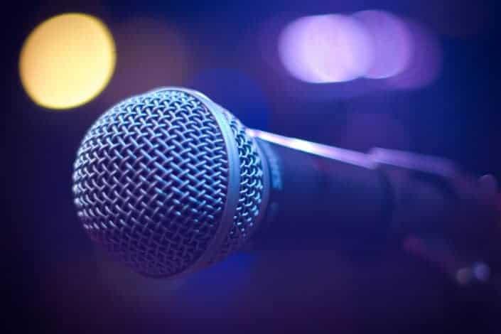 microphone in karaoke
