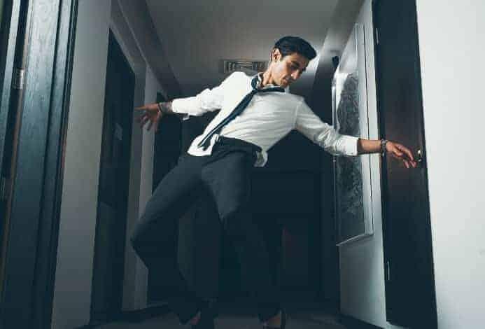 Guy solo dancing
