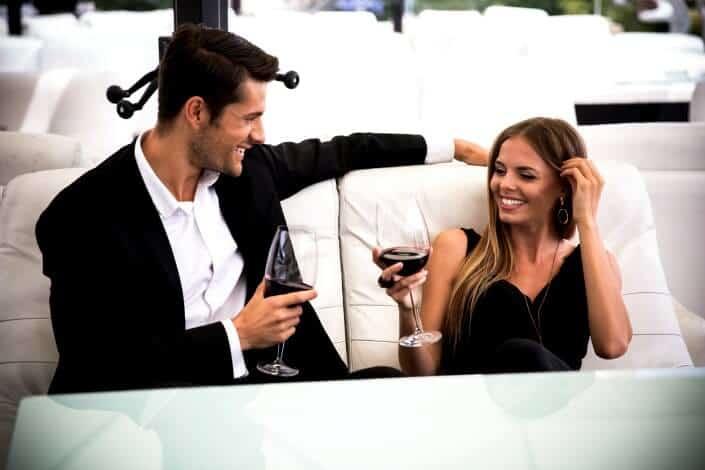 couple having a toast