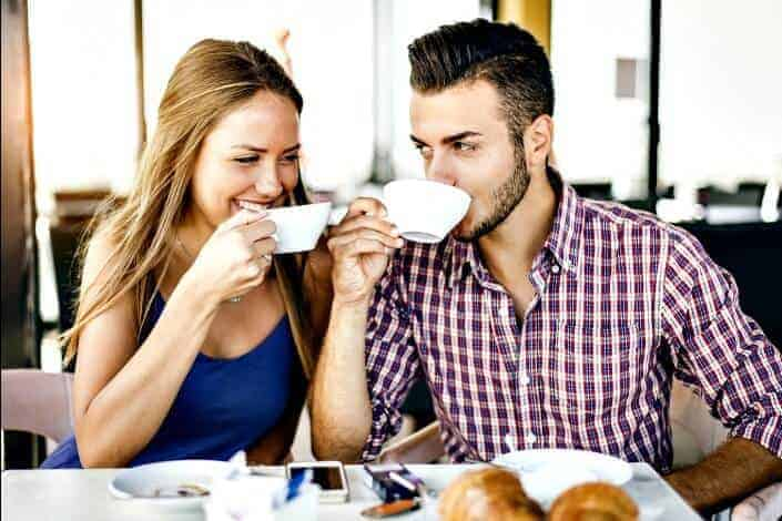 what to do on a first date - coffee shop