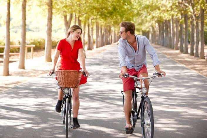 date night ideas - go on a bike ride