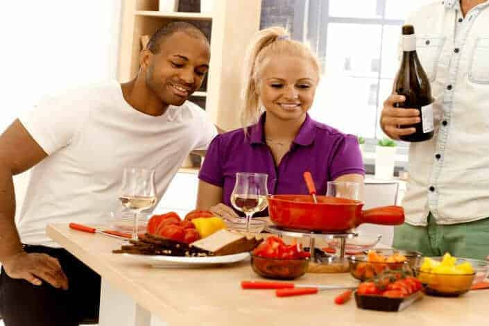 double date ideas - fondue night
