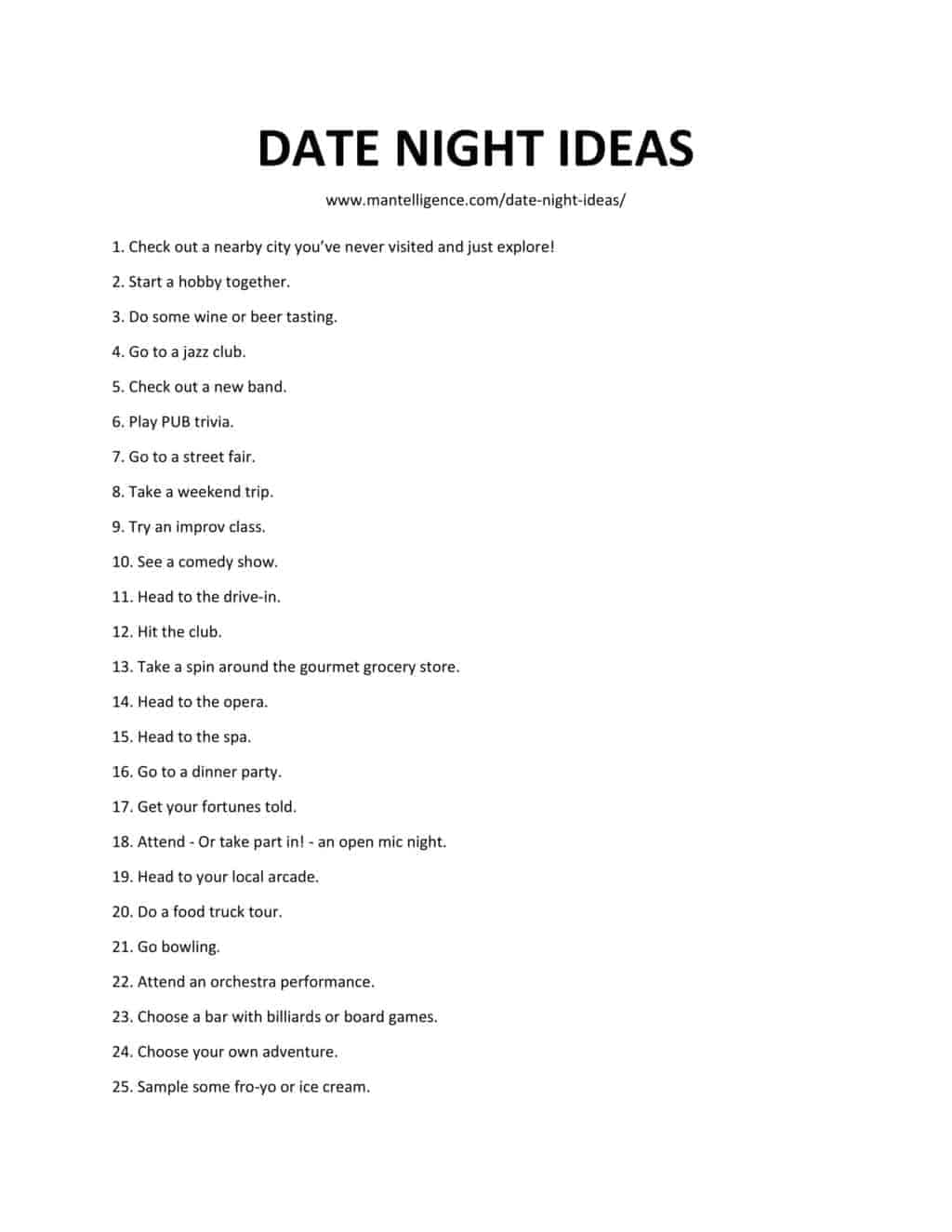 103 Date Night Ideas This Is The Only List You Need