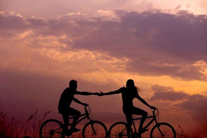 date night ideas - go on a bike ride