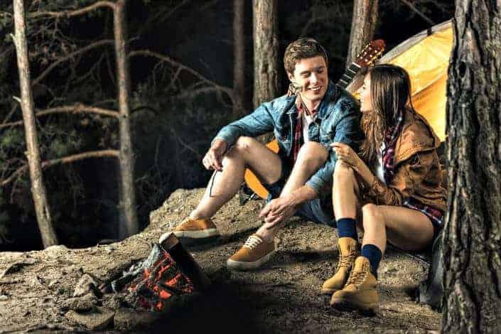 fun date night ideas - camping Depositphotos/ArturVerkhovetskiy