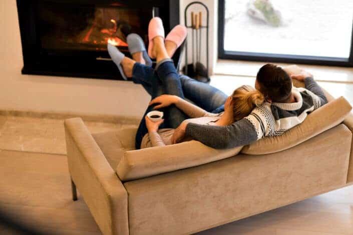 fun date night ideas - fireplace Depositphotos/.shock