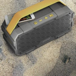 christmas gifts for dad - Portable Waterproof Bluetooth Speaker with Built in Subwoofer