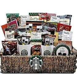 christmas gifts for dad - Starbucks Gift Basket