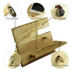 cheap christmas gifts-Wooden Phone Docking Station