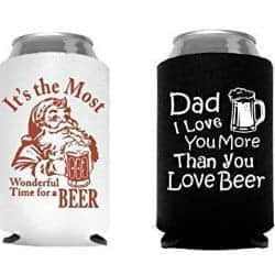 christmas gifts for dad - Christmas Santa Beer Can Cooler