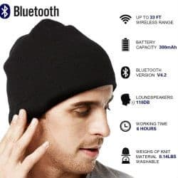 christmas gifts for dad - Bluetooth Beanie Hat Headphones