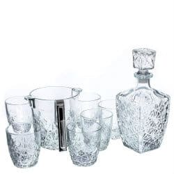 Cheap Christmas gifts-Bormioli Rocco Dedalo 8 Piece Glass Whiskey Set