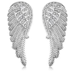 Christmas Gift Ideas For Wife - Angel Wing Hoop Earring