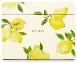 Christmas Gift Ideas For Wife - Kate Spade New York Lemon Recipe Box 1