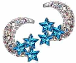 Christmas Gift Ideas For Wife - Stud Moon Earrings