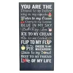 Christmas Gift Ideas For Wife - You Are The Peanut To My Butter Love Of My Life Wood Wall Plaque Sign