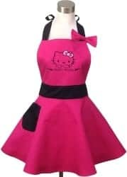 Christmas Gifts For Girlfriend - Hello Kitty Pink Retro Kitchen Aprons