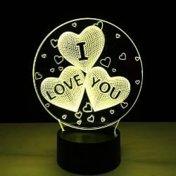 I Love You LED 3D Illusion USB Lamp (1)