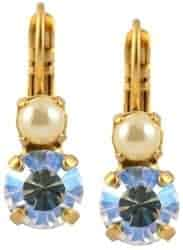 Stocking Stuffers For Her - Champagne And Caviar Moonlight Drop Silvertone Earrings