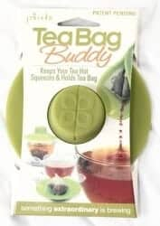 Stocking Stuffers For Her - Epoca Silicone Tea Bag Buddy And Cup Cover Lid