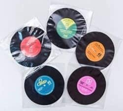 Stocking Stuffers For Her - Upcycled Record Coasters