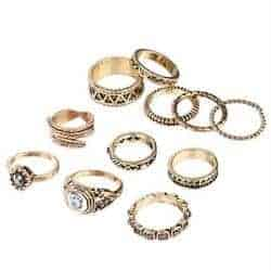 cheap stocking stuffers - bohemian ring set