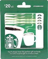 christmas gift ideas for mom - starbucks gift card