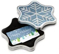 stocking stuffers for men - snowflake tin