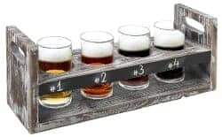 Christmas Gifts for Brother - Craft Beer Flight Tasting Serving Set