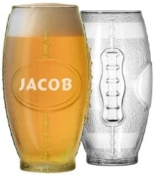 Christmas Gifts for Brother - Football Tumbler Beer Glass