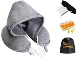 Christmas Gifts for Brother - Hooded Travel Pillow Set
