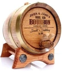 Christmas Gifts for Brother - Personalized Whiskey Oak Barrel