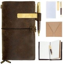 Christmas Gifts for Brother - Real Leather Journal