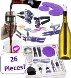 gifts for wine lovers - accessories set