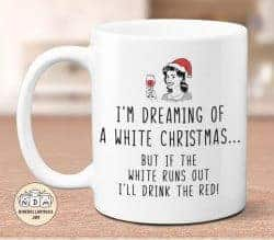 gifts for wine lovers - dreaming of white christmas