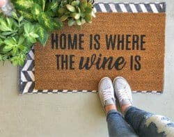 gifts for wine lovers - home is where the wine is
