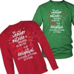 gifts for wine lovers - outside is frightful wine is so delightful