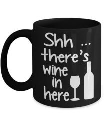 gifts for wine lovers - sshh there's wine in here