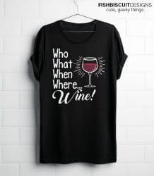 gifts for wine lovers - wine tshirt