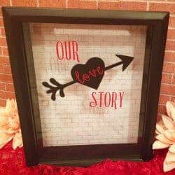 1. Love Keepsake Shadow Box