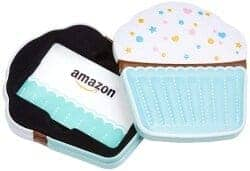 101 Birthday Gifts for Girlfriend - Amazon.com Gift Card in a Birthday Cupcake Tin