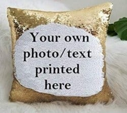 101 Birthday Gifts for Girlfriend - Custom Sequin Pillow Case